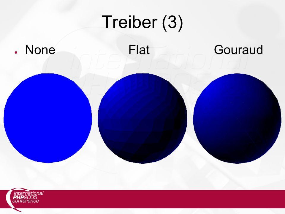 Treiber (3) ● NoneFlatGouraud