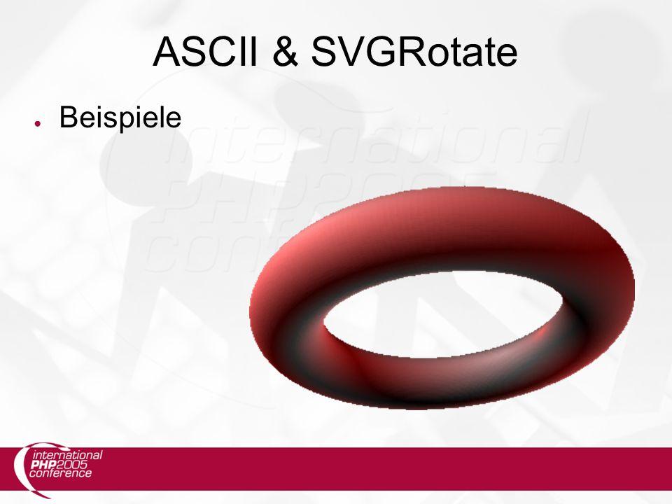 ASCII & SVGRotate ● Beispiele