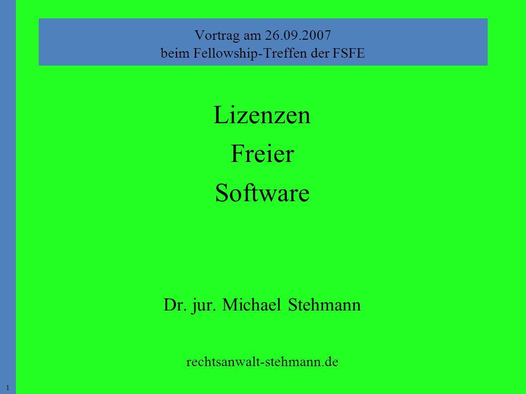 1 Lizenzen Freier Software Dr. jur.