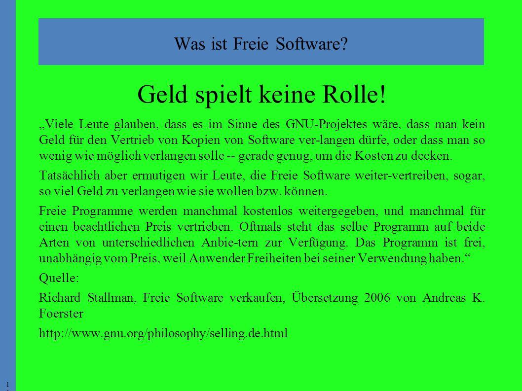 1010 Was ist Freie Software. Geld spielt keine Rolle.