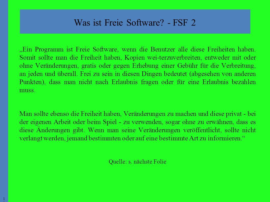 1313 Was ist Freie Software.