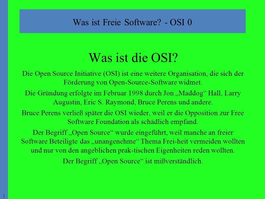 1515 Was ist die OSI.