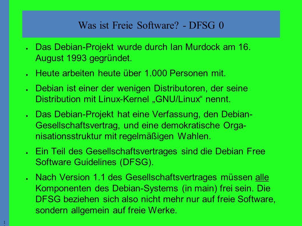 1919 ● Das Debian-Projekt wurde durch Ian Murdock am 16.