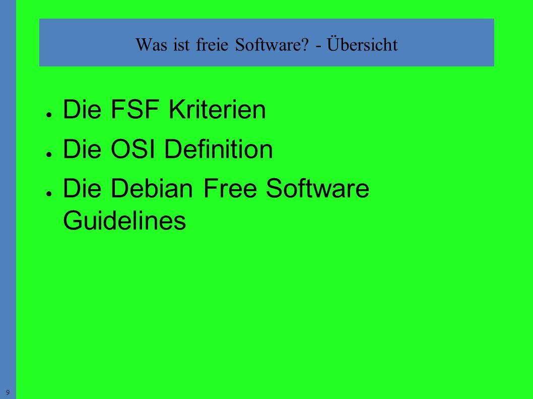 9 Was ist freie Software.