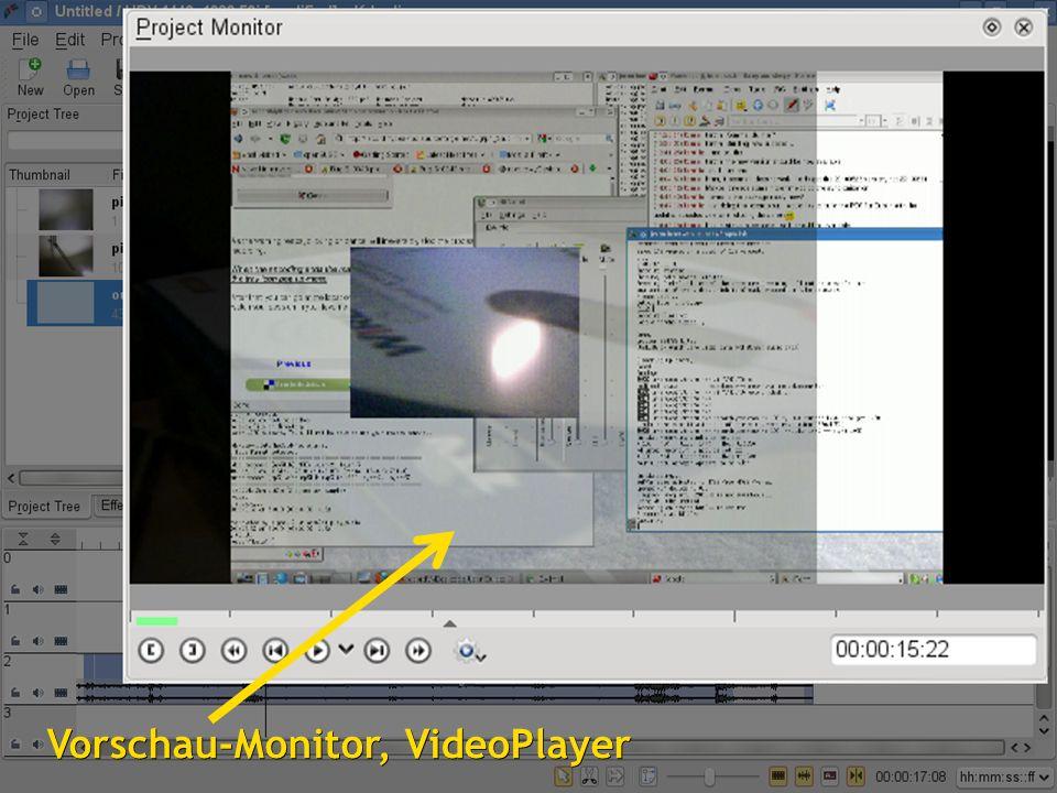 1515 Vorschau-Monitor, VideoPlayer