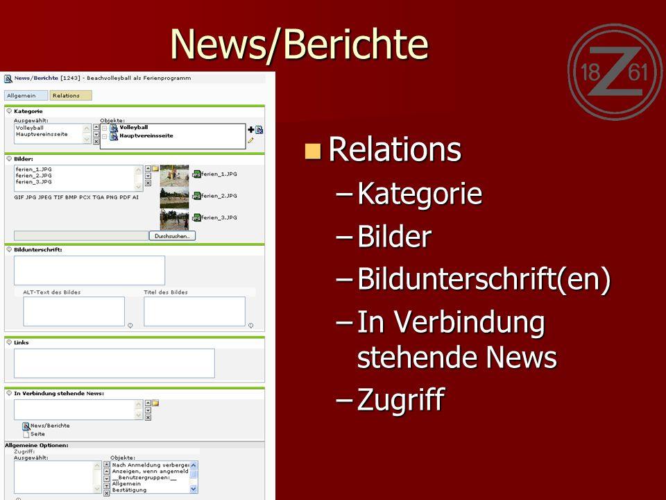 News/Berichte Relations Relations –Kategorie –Bilder –Bildunterschrift(en) –In Verbindung stehende News –Zugriff