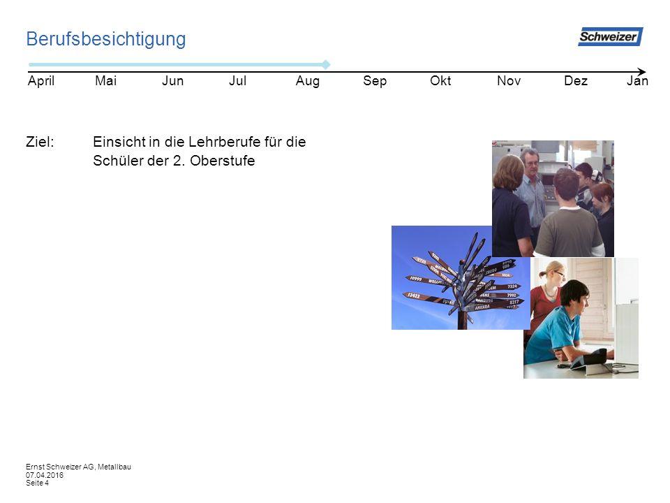 Berufsbesichtigung Ziel:Einsicht in die Lehrberufe für die Schüler der 2.