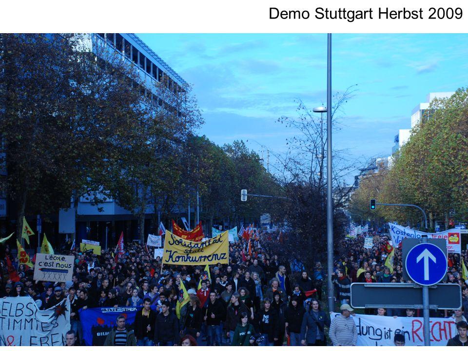 21.11.09 landesweite Demo Stuttgart Demo Stuttgart Herbst 2009