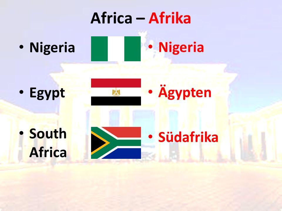 Africa – Afrika Nigeria Ägypten Südafrika Nigeria Egypt South Africa