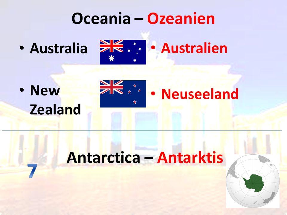Oceania – Ozeanien Australien Neuseeland Australia New Zealand Antarctica – Antarktis