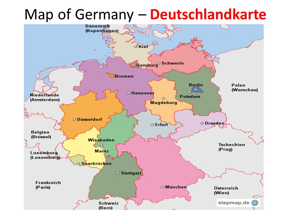 Map of Germany – Deutschlandkarte