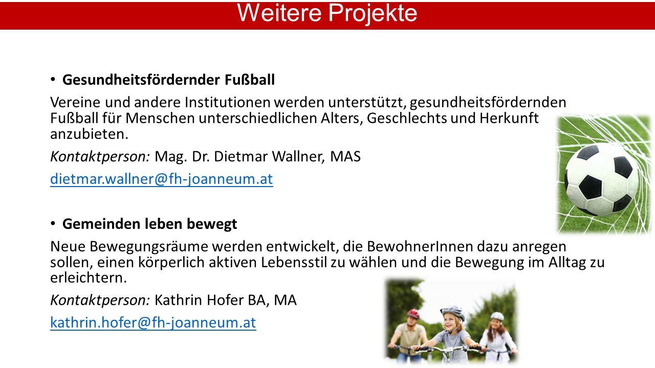Gesundheitsfördernder Fußball Vereine und andere Institutionen werden unterstützt, gesundheitsfördernden Fußball für Menschen unterschiedlichen Alters, Geschlechts und Herkunft anzubieten.