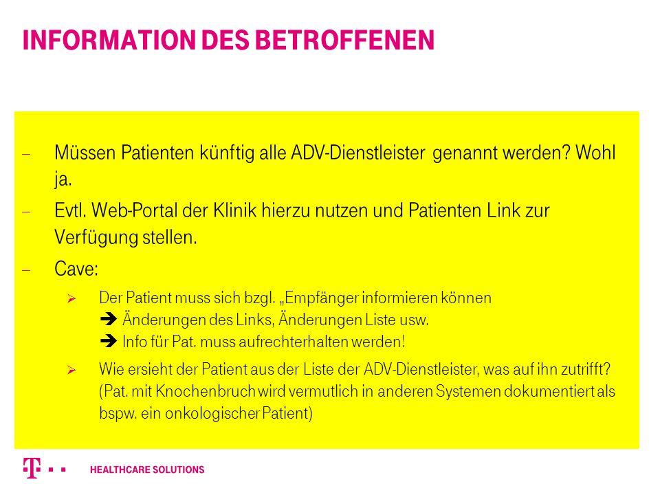 Information des Betroffenen  Art.