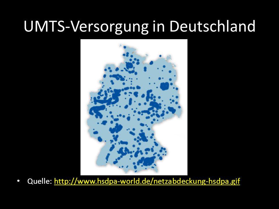 UMTS-Versorgung in Deutschland Quelle: http://www.hsdpa-world.de/netzabdeckung-hsdpa.gif