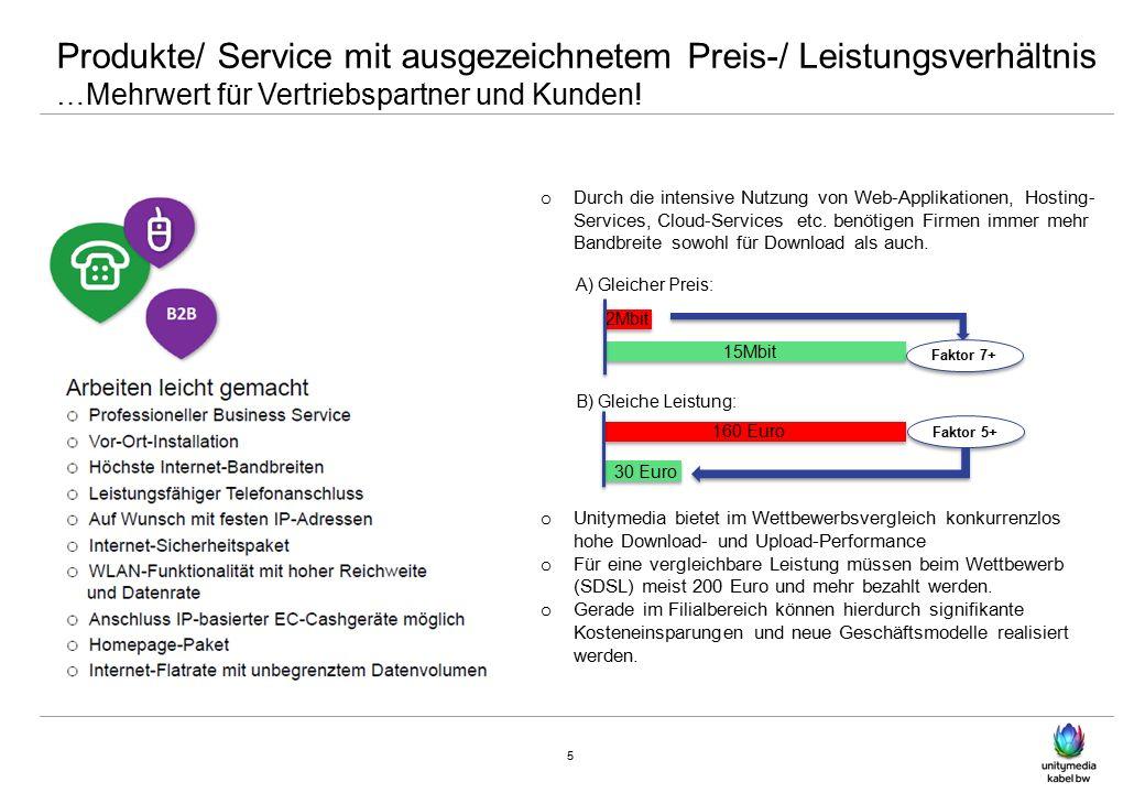 Produkte/ Service mit ausgezeichnetem Preis-/ Leistungsverhältnis …Mehrwert für Vertriebspartner und Kunden.