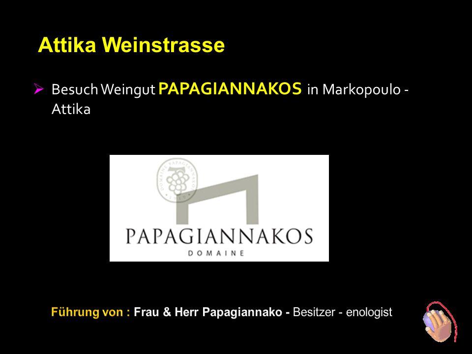 2. Tag Attika Weinstrasse BBesuch Weingut PAPAGIANNAKOS in Attika BBesuch K ANAL VON KORINTH BBesuch Weingut SEMELI in Nemea RRefresher Stopp