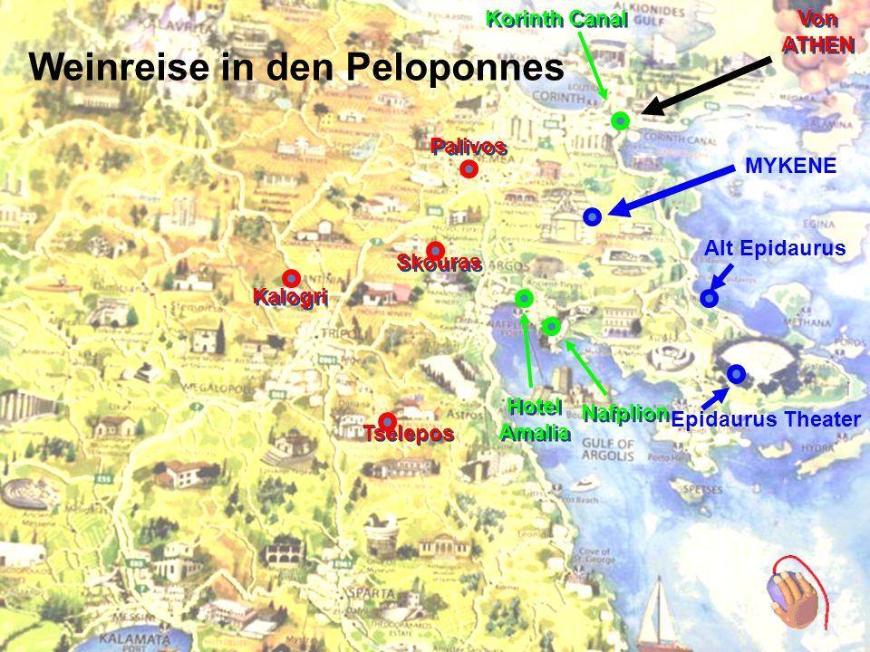 Reise in den Peloponnes