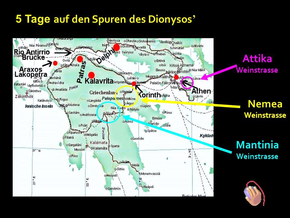 … mystische Weinstrassen in Griechenland Auf den Spuren des Dionysos ' Gott des Weines, Unterhaltung und Vergnügen