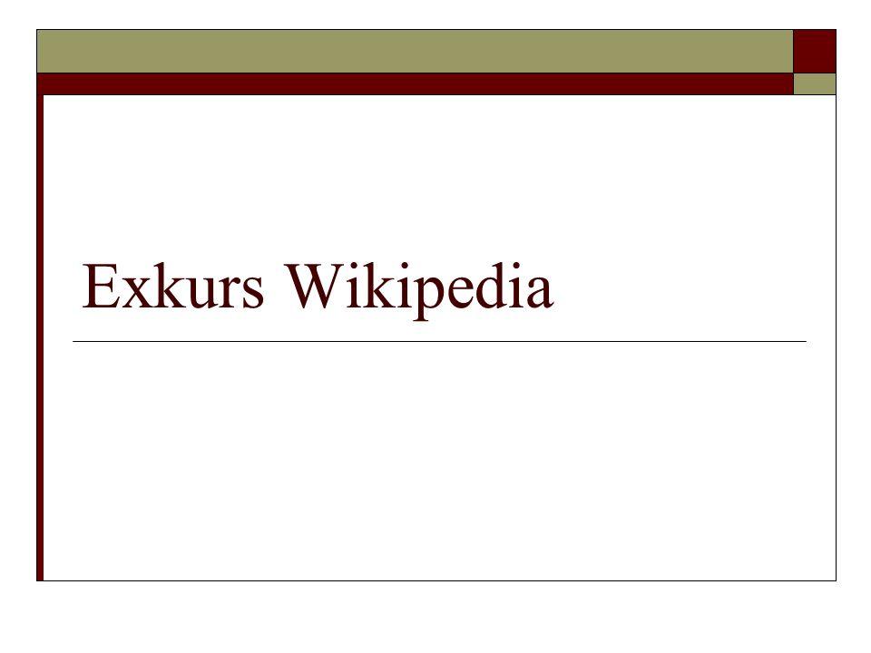 Exkurs Wikipedia