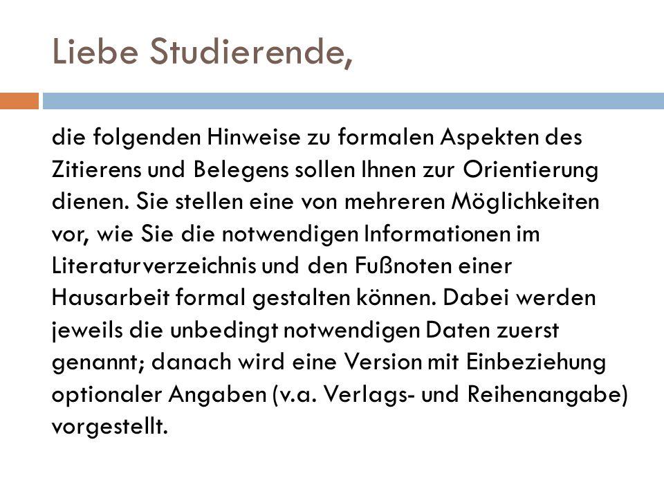 Titelangabe bei Quellen aus Editionen: Beispiel: Handschreiben Kaiser Wilhelms II.