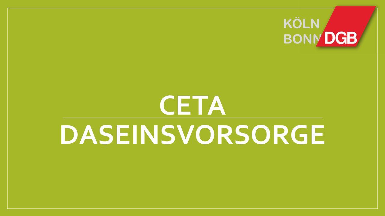 KÖLN BONN CETA DASEINSVORSORGE