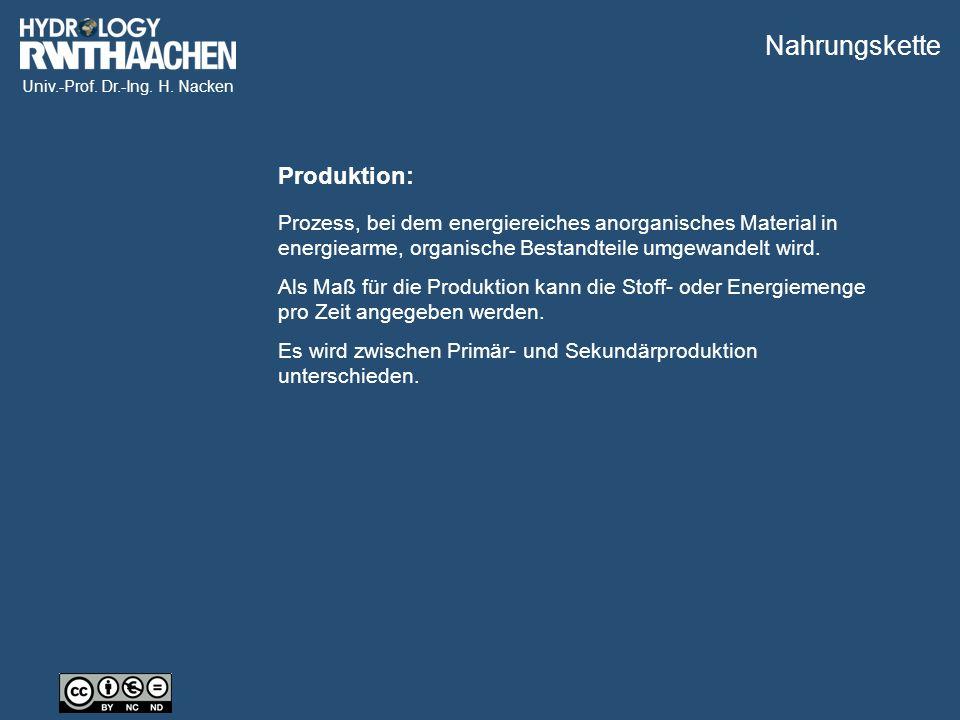 Univ.-Prof. Dr.-Ing. H. Nacken Klassifikation nach Nahrungsaufnahme