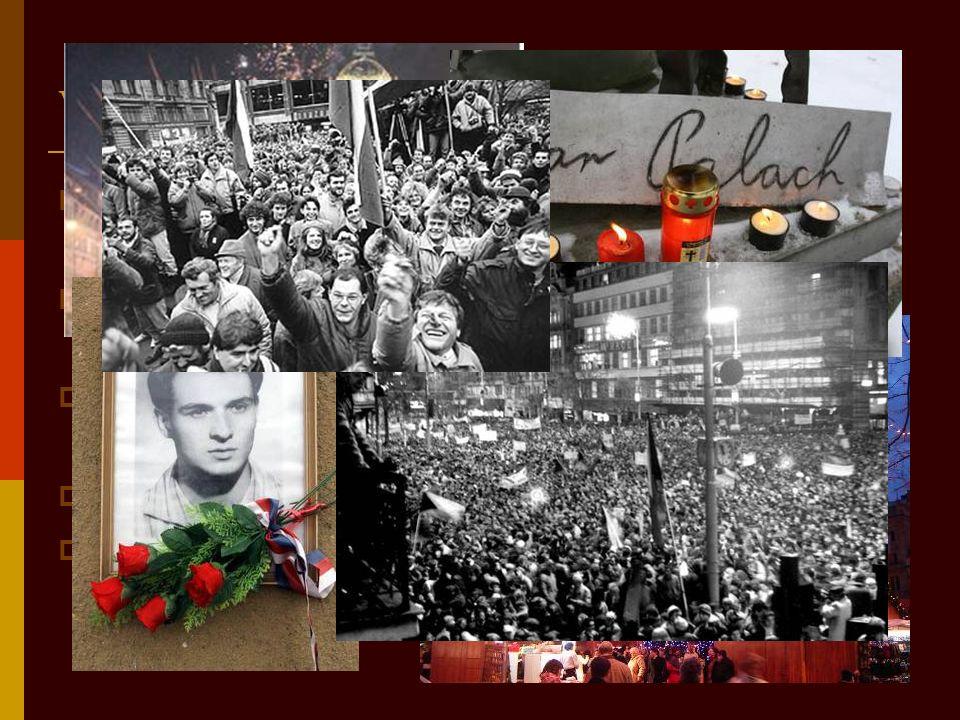 Wichtiges Zentrum 228. Oktober 1918 hat A. Jirásek eine wichtigste Information gelesen 119. Januar 1969 hat ein Student Jan Palach sich verbrannte