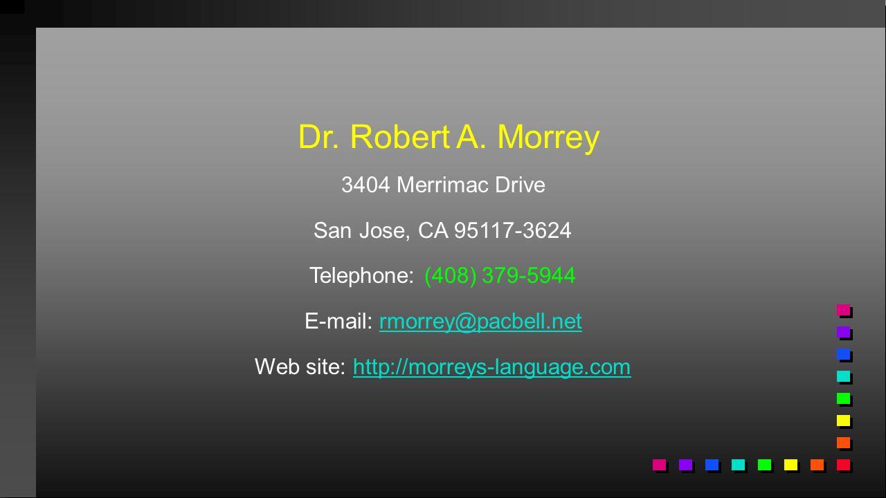 Dr.Robert A.