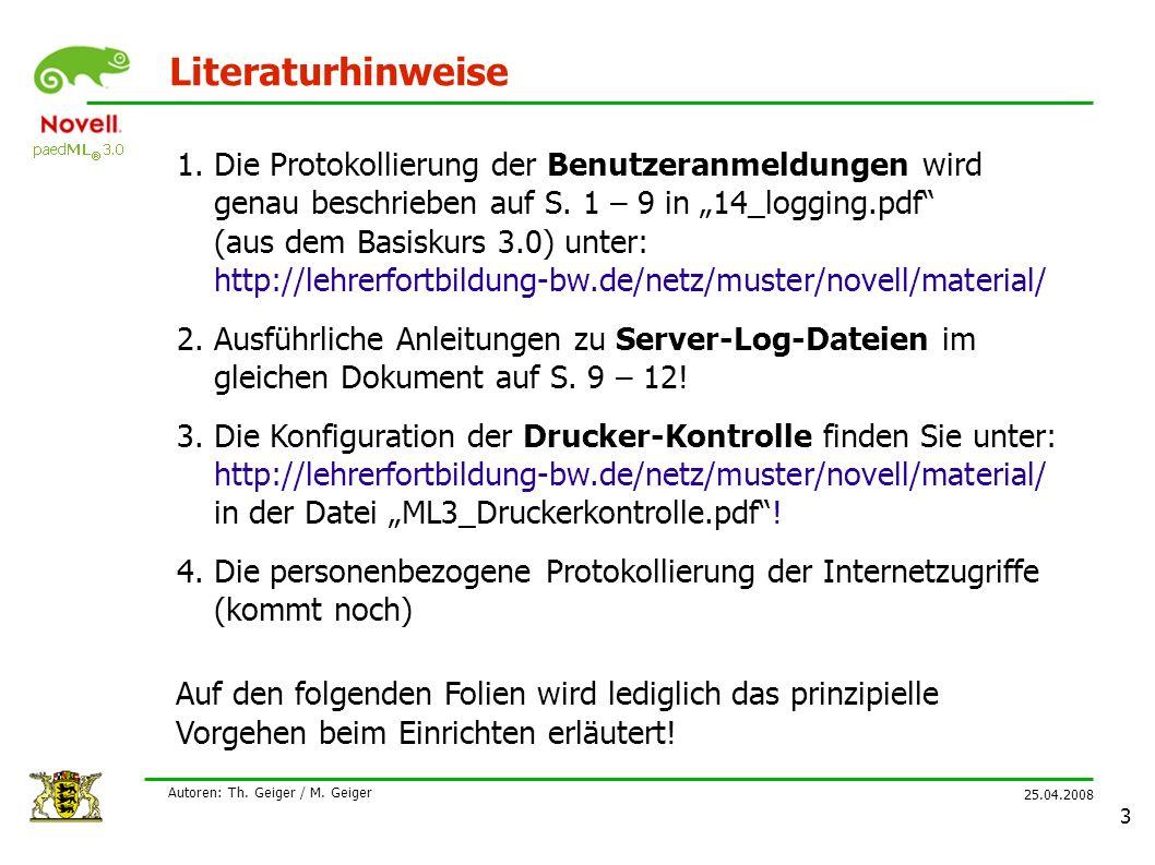 25.04.2008 Autoren: Th.Geiger / M.