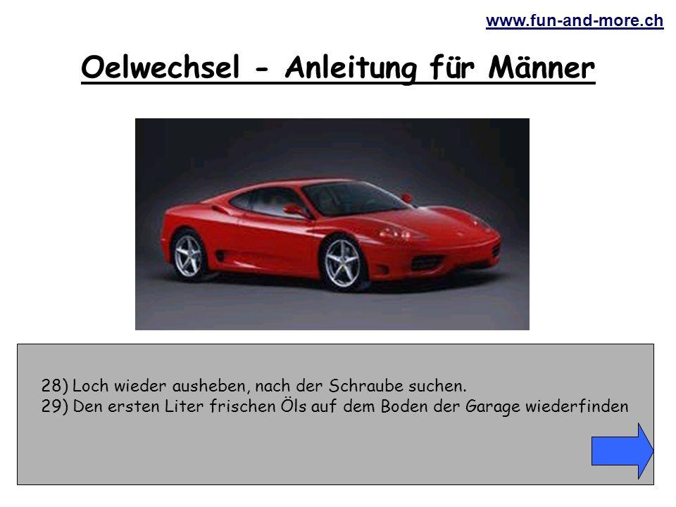 www.fun-and-more.ch 28) Loch wieder ausheben, nach der Schraube suchen.