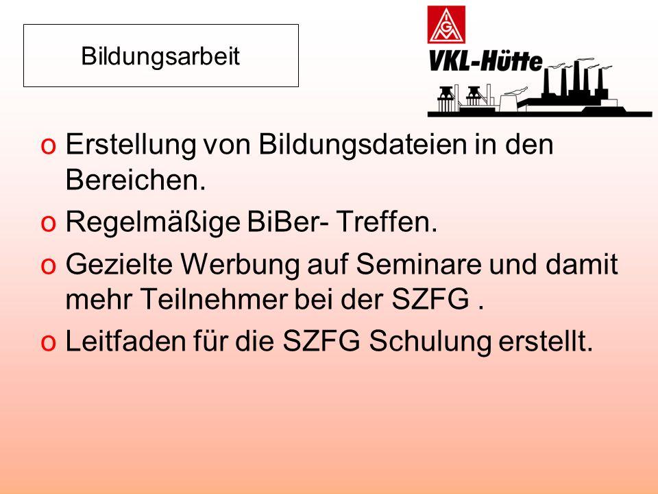 Öffentlichkeitsarbeit oErstellung des Stahlsplitters.