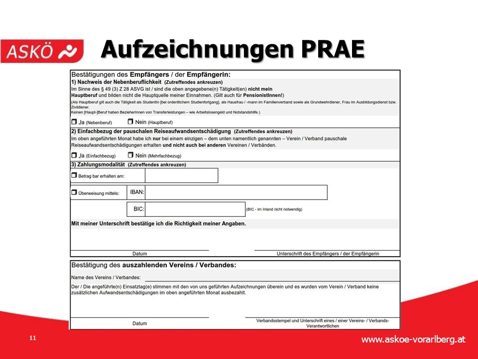 www.askoe-vorarlberg.at 11 Aufzeichnungen PRAE