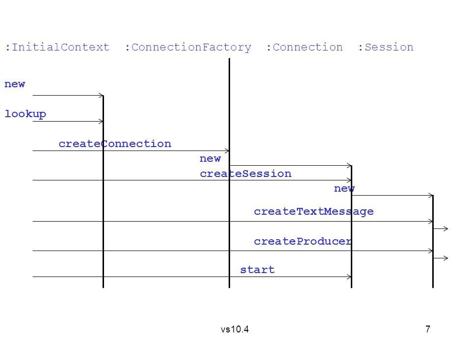8 vs10.4 import javax.naming.*; // providing Context, // InitialContext,......