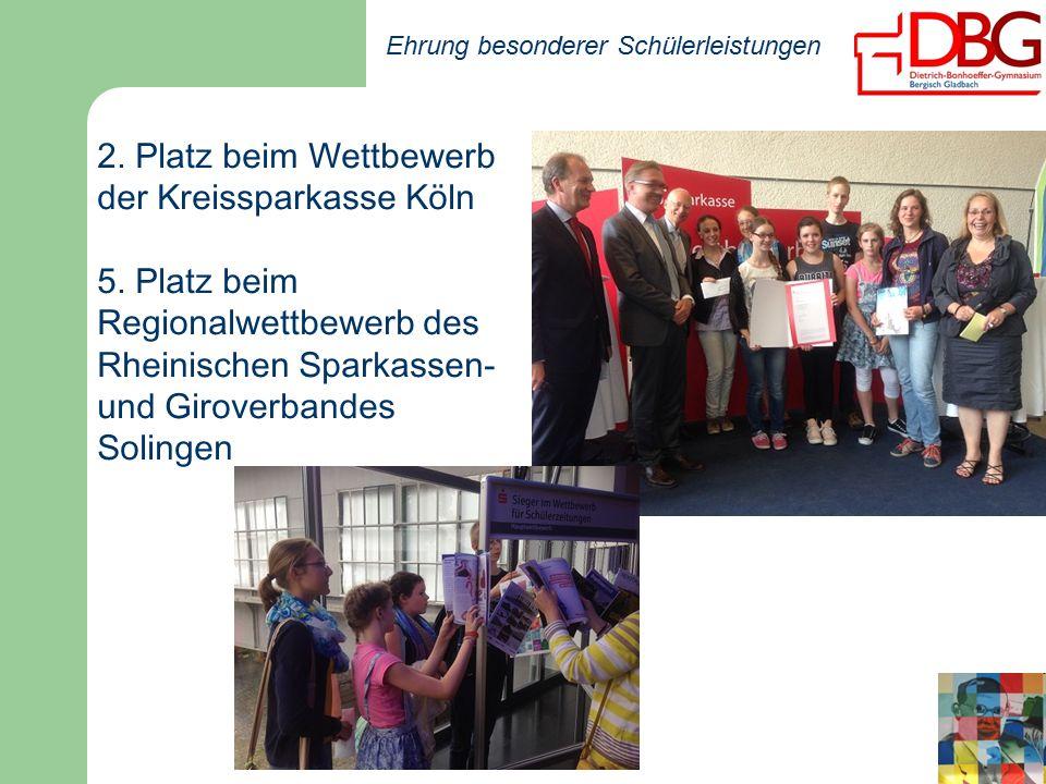 2. Platz beim Wettbewerb der Kreissparkasse Köln 5.