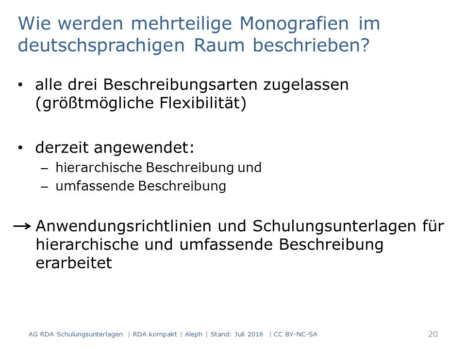 Wie werden mehrteilige Monografien im deutschsprachigen Raum beschrieben.