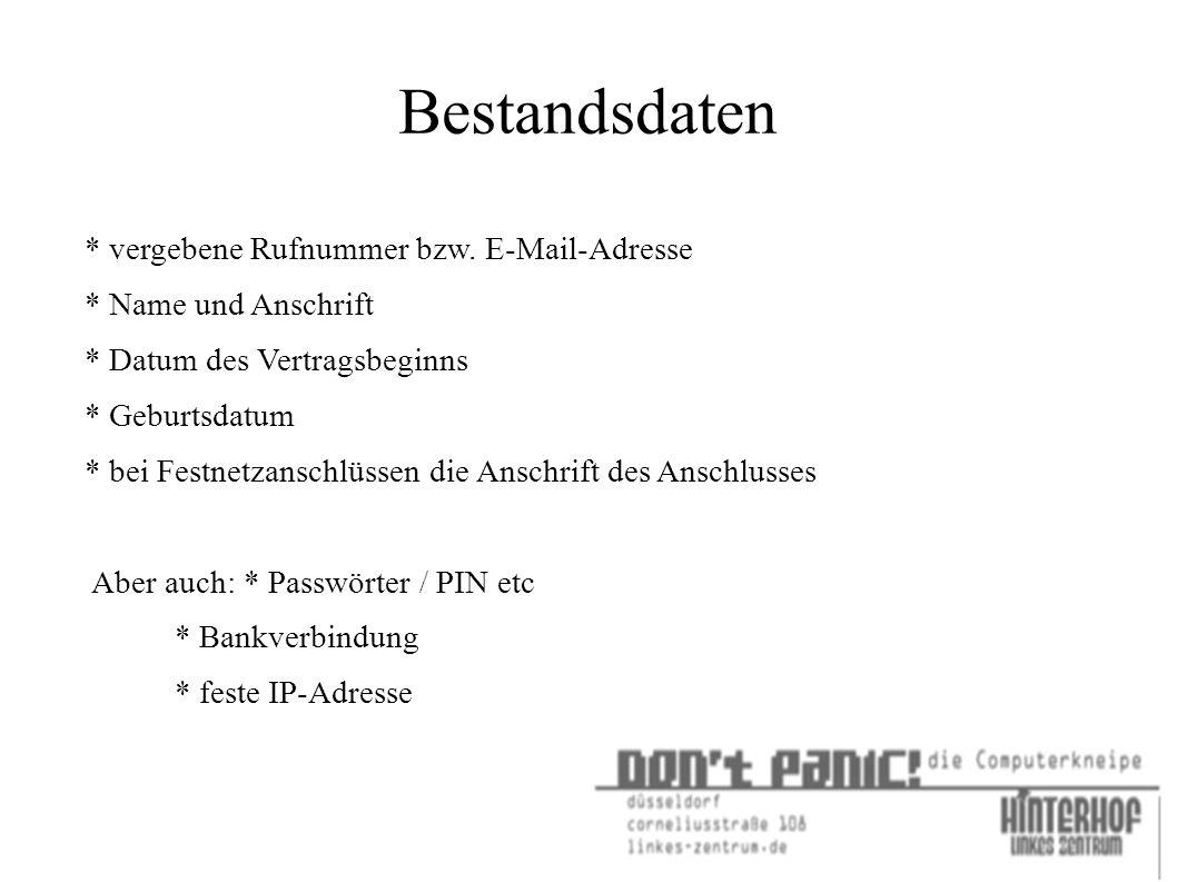 Linktipps : http://netzpolitik.org/2009/netzpolitik-podcast-080-frank-rieger- ueber-die-vorratsdatenspeicherung/ http://netzpolitik.org/2009/ccc-stellungnahme-zur- vorratsdatenspeicherung/ http://www.daten-speicherung.de/index.php/ueberwachungsgesetze/ http://netzpolitik.org/2007/vorratsdatenspeicherung-und- journalismus/ http://eff.tor.org/