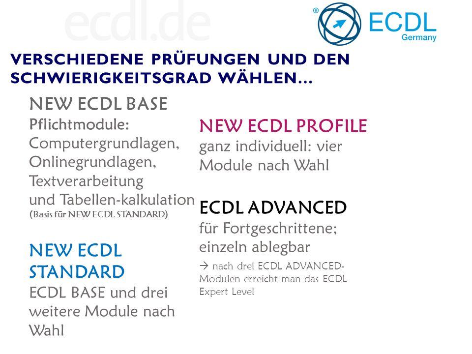 7 aus 13 Modulen = ECDL 3 aus 4 = ECDL Expert PLUS: BELIEBIG VIELE EINZEL- ZERTIFIKATE