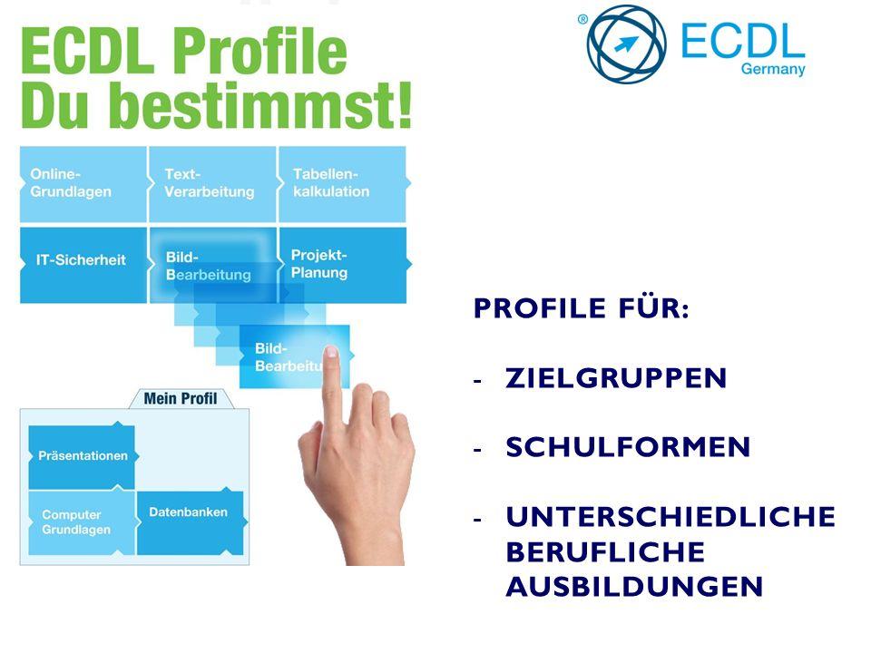 """BEISPIEL: """"ECDL FÜR CONTROLLER ECDL-PROFILE MIT DEN MODULEN: -DATENBANKEN (ACCESS) -TABELLENKALKULATION (EXCEL) -PRÄSENTATION (POWER POINT) -PROJEKTPLANUNG (MS PROJECT) PLUS ZWEI EINZELZERTIFIKATE: - ADVANCED TABELLENKALKULATION (EXCEL) - ADVANCED PRÄSENTATION (POWER POINT)"""