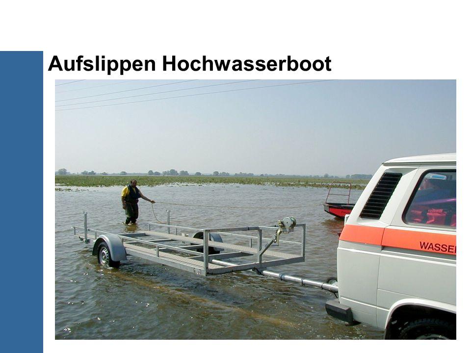 Aufslippen Hochwasserboot