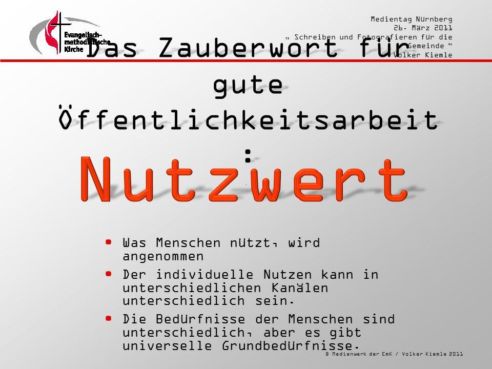 """© Medienwerk der EmK / Volker Kiemle 2011 Medientag Nürnberg 26. März 2011 """" Schreiben und Fotografieren für die Gemeinde """" Volker Kiemle Das Zauberwo"""