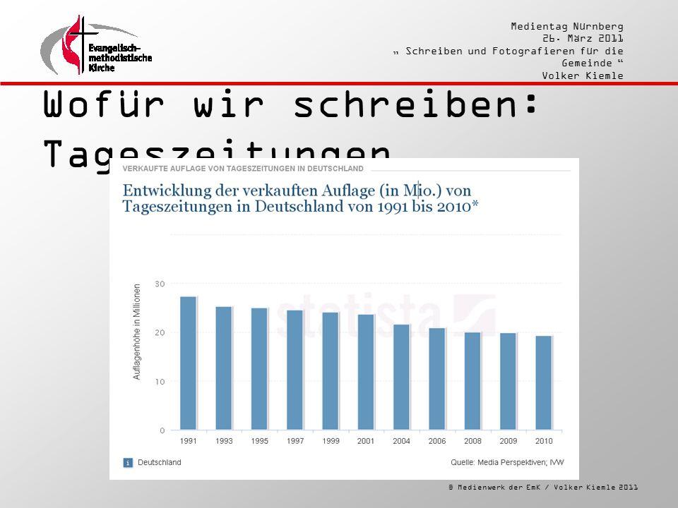 """© Medienwerk der EmK / Volker Kiemle 2011 Medientag Nürnberg 26. März 2011 """" Schreiben und Fotografieren für die Gemeinde """" Volker Kiemle Wofür wir sc"""