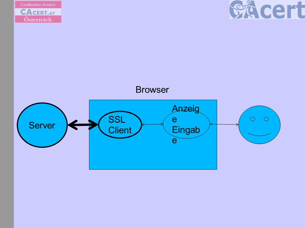 Server SSL Client Anzeig e Eingab e Plug in Browser