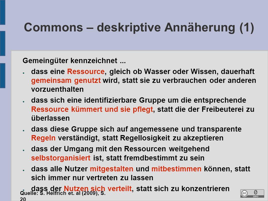 3. Commons in einer Güter-Systematik