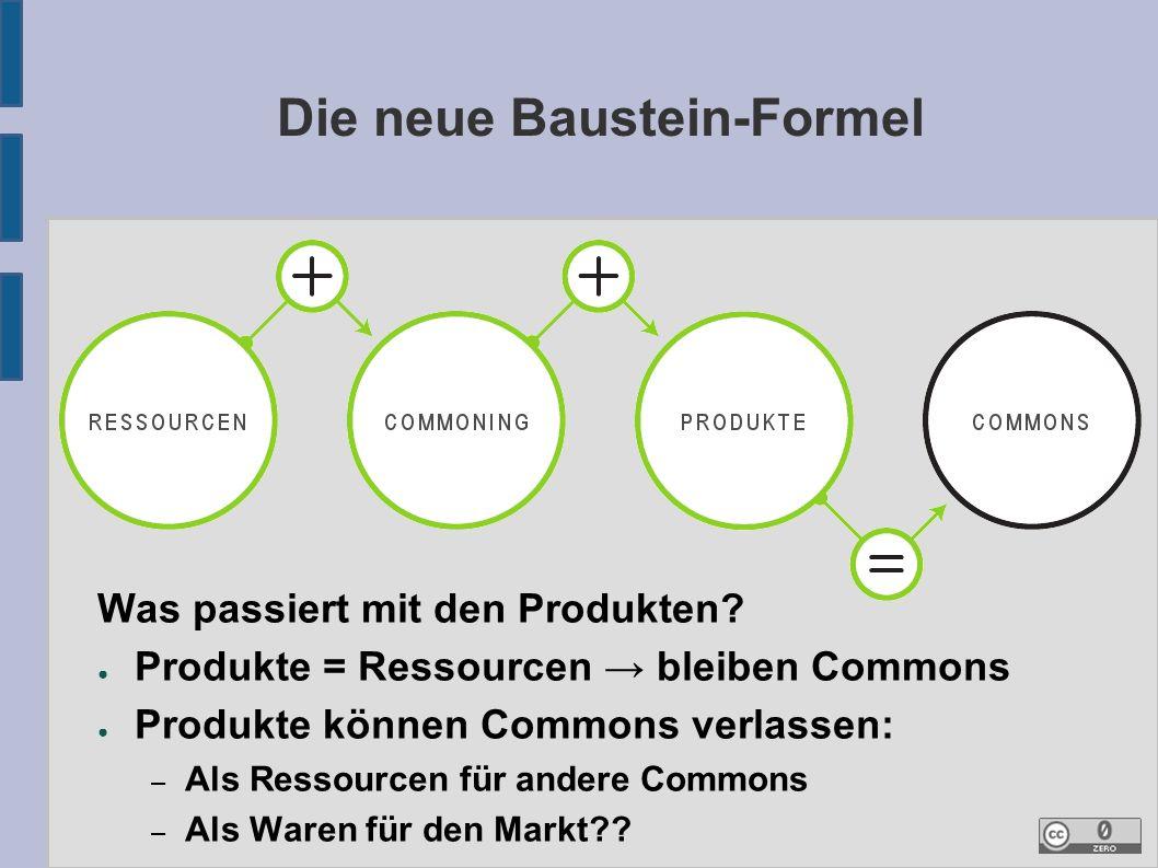 Die neue Baustein-Formel Was passiert mit den Produkten.