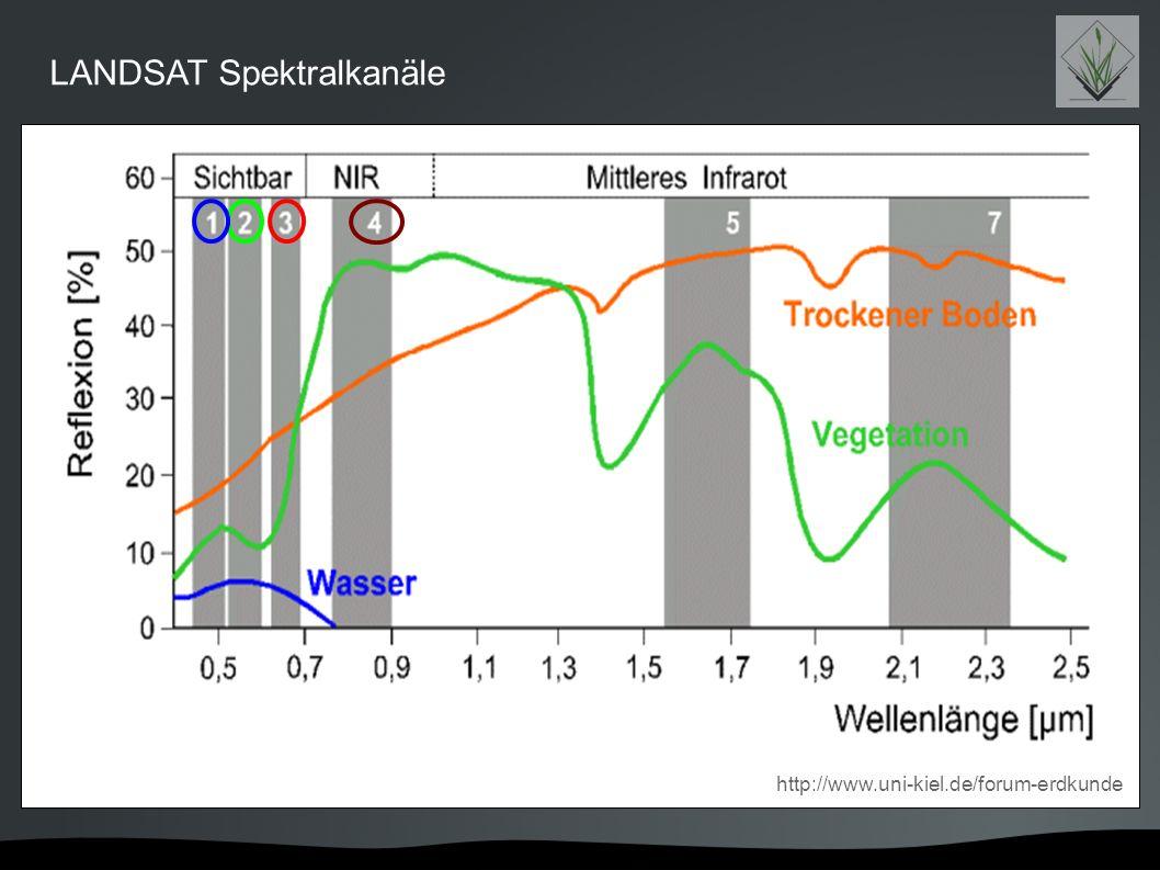 LANDSAT Spektralkanäle http://www.uni-kiel.de/forum-erdkunde