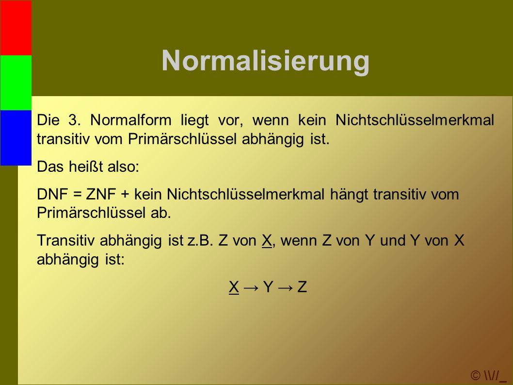 © \\//_ Normalisierung Die 3.