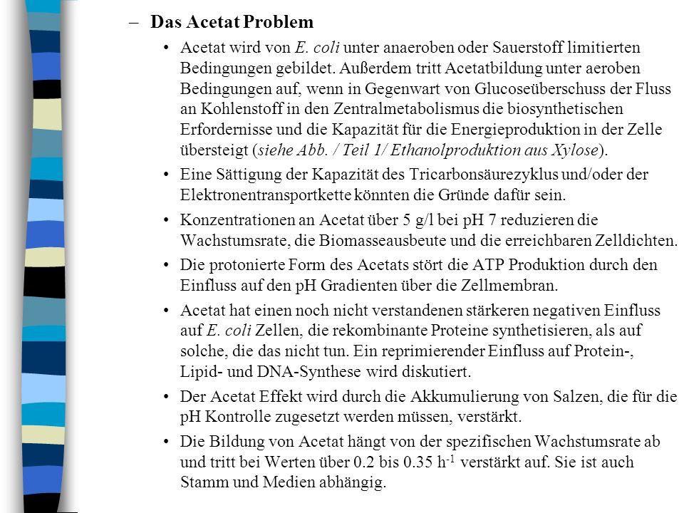 –Das Acetat Problem Acetat wird von E.