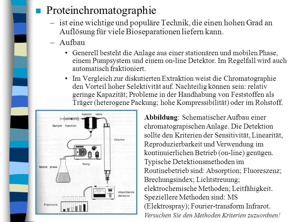 n Proteinchromatographie –ist eine wichtige und populäre Technik, die einen hohen Grad an Auflösung für viele Bioseparationen liefern kann.