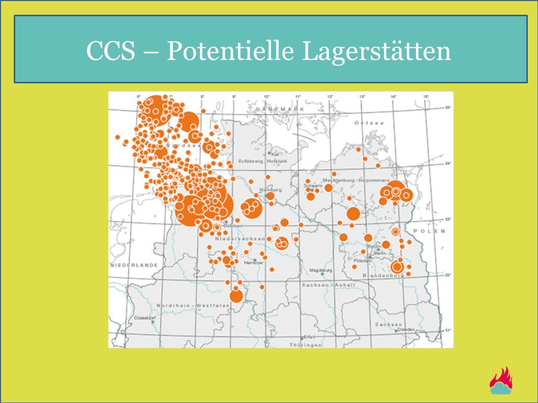 CCS – Potentielle Lagerstätten