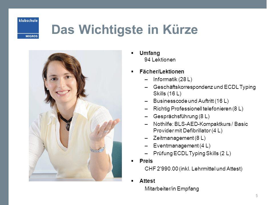 Lerninhalte: Informatik mit Office 2013  Textverarbeitung  Serienbriefe  Dokumentationen erstellen  Präsentationen  Diagramme  Rechnen mit Excel  Outlook als Drehscheibe 6